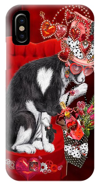 Potion iPhone Case - Cat In The Valentine Steam Punk Hat by Carol Cavalaris