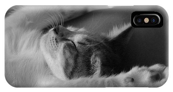 Cat Nap Bw IPhone Case