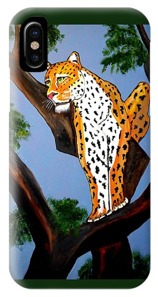 Cat On A Hot Wood Tree IPhone Case
