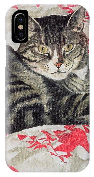 Cat On Quilt  IPhone Case