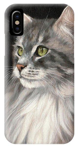 Cat Portrait Painting IPhone Case