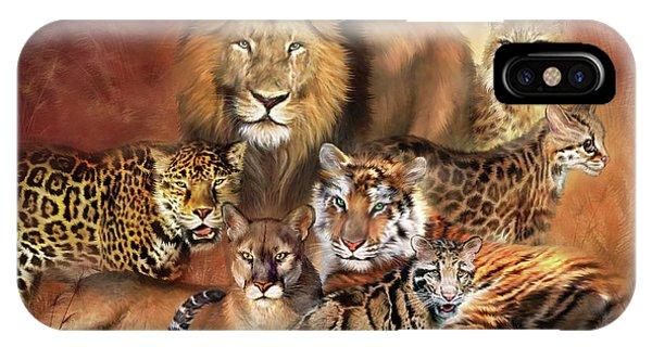 Lynx iPhone Case - Cat Power by Carol Cavalaris