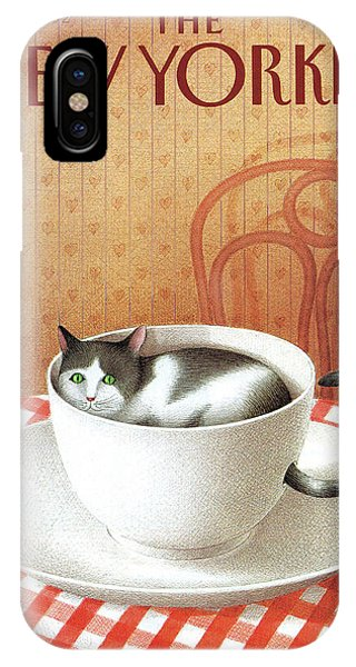 Cat Sits Inside A Coffee Cup IPhone Case