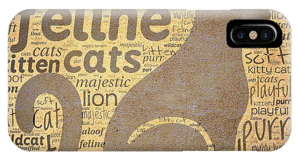 Cat Typography IPhone Case