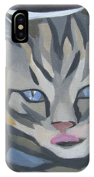 Cat With Tongue  IPhone Case