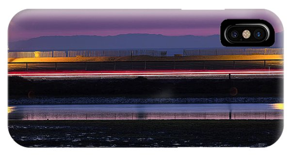 Catalina Bolsa Chica Pch Light Trails And The Wetlands By Denise Dube IPhone Case