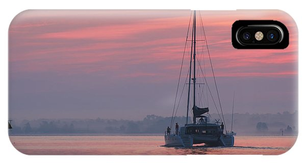 Catamaran At Dawn IPhone Case