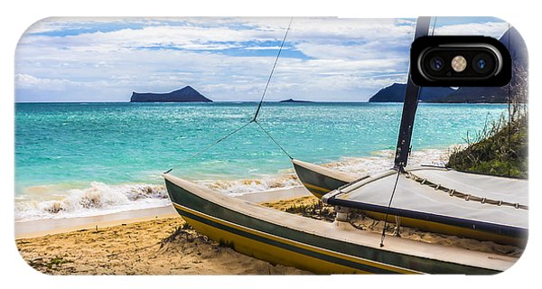 Catamaran On Waimanalo Beach IPhone Case