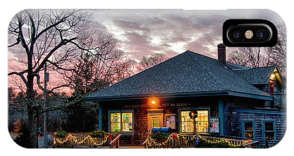 Cataumet Post Office Dressed For The Holidays IPhone Case