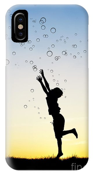 Catching Bubbles IPhone Case
