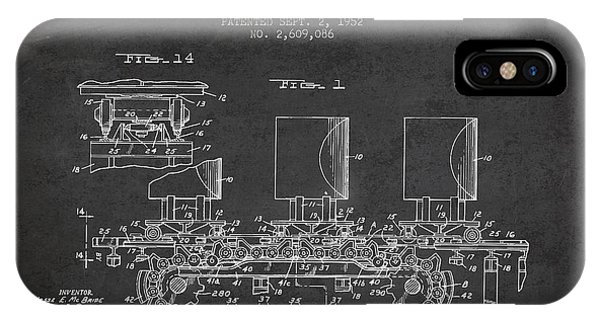 Patent iPhone Case - Caterpillar Drive Chain Patent From 1952 by Aged Pixel