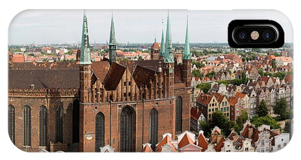 Pomeranian iPhone Case - Cathedral In A City, St. Marys Church by Panoramic Images