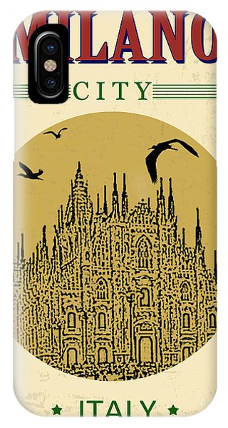 Church iPhone Case - Cathedral Of Milano, Italy  In Vintage by Ducu59us