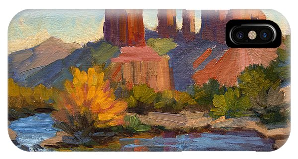 Cathedral Rock iPhone Case - Cathedral Rock 2 by Diane McClary