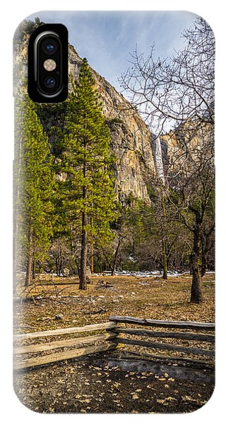 Cathedral Rock And Bridalveil Falls IPhone Case