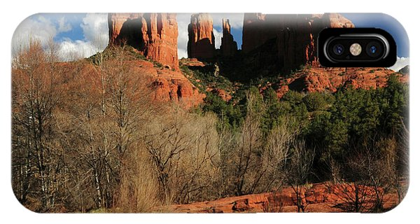 Cathedral Rock At Sunset, Red Rock IPhone Case