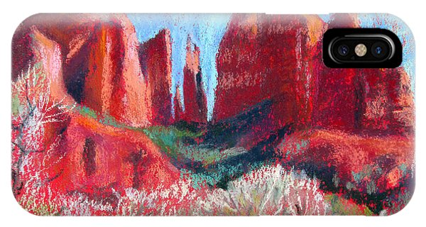 Cathedral Rock On Red Paper IPhone Case