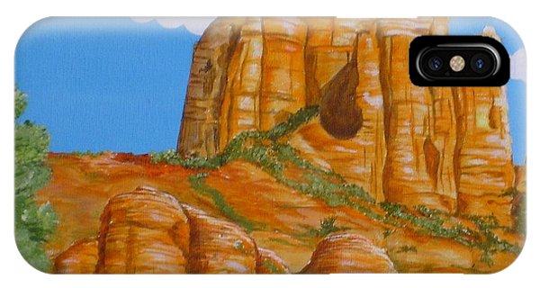 Cathedral Rock Sedona Az Left Phone Case by Carol Sabo