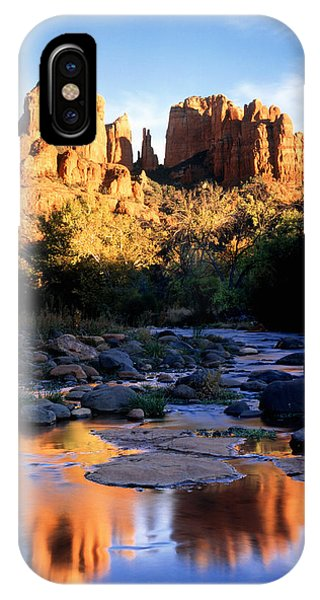 Cathedral Rock iPhone Case - Cathedral Rock Sedona Az Usa by Panoramic Images
