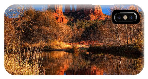 Cathedral Rock iPhone Case - Cathedral Rock by Tom Weisbrook