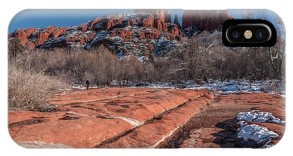 IPhone Case featuring the photograph Cathedral Rock Winter by Tam Ryan