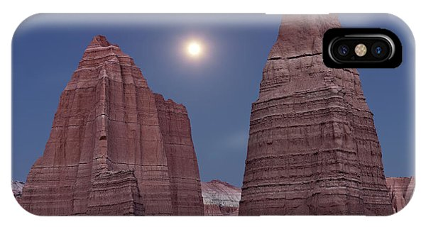 Cathedral Rock iPhone Case - Cathedral Valley Moonrise by Leland D Howard