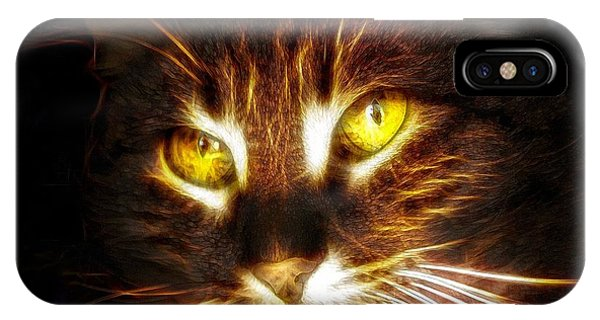 Cat's Eyes - Fractal IPhone Case