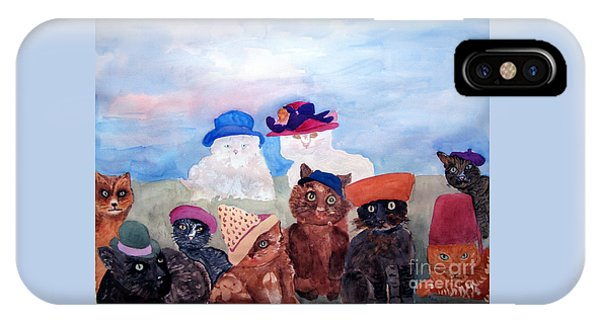 Cats In Hats IPhone Case