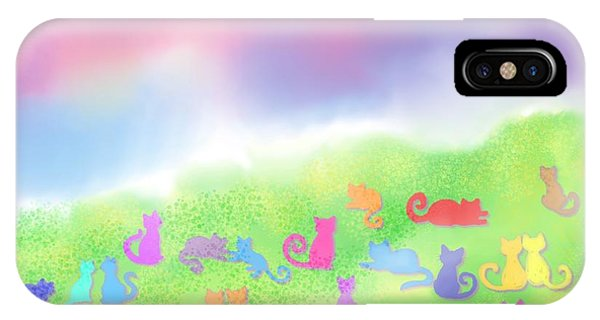Having Fun iPhone Case - Cats In The Meadow by Nick Gustafson