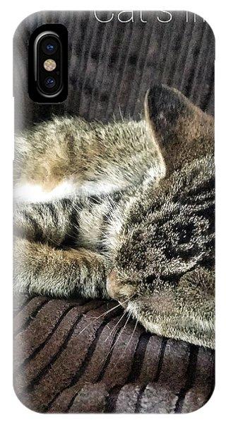 Cat's Life 1 IPhone Case