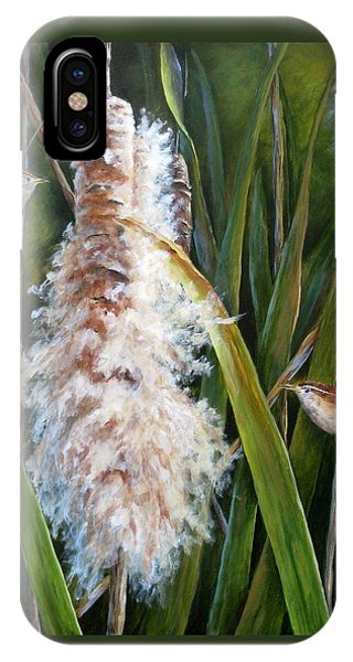 Cattails And Wrens IPhone Case