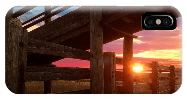 Cattle Pens IPhone Case