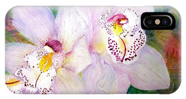 Cattleya Orchid Blue IPhone Case