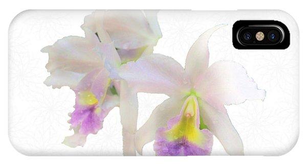 Cattleya Orchids Softly Phone Case by Rosalie Scanlon