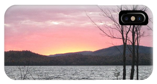 Caucomgomoc Lake Sunset In Maine IPhone Case