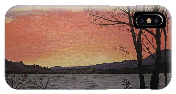 Caucomgomoc Lake Sunset In Maine IPhone Case