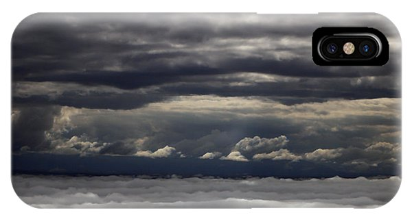 Caught Between Two Cloud Layers Phone Case by Michael Riley