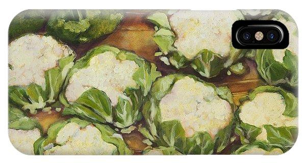 Broccoli iPhone Case - Cauliflower March by Jen Norton