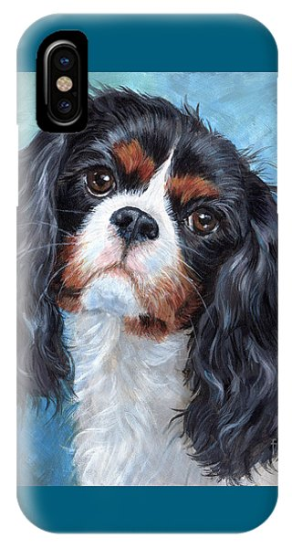 King Charles iPhone Case - Cavalier King Charles Spaniel by Hope Lane