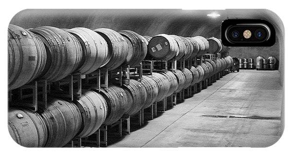 Cave Storage Of Wine Barrels Phone Case by Kent Sorensen