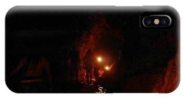 Caving With Candles And Cutoffs IPhone Case