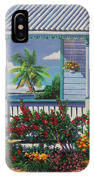 Porch iPhone Case - Cayman Porch by John Clark