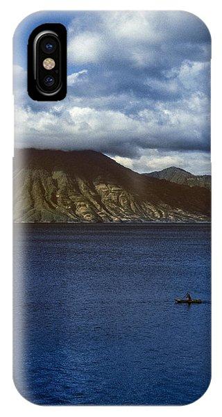 Cayuco On Lake Atitlan IPhone Case