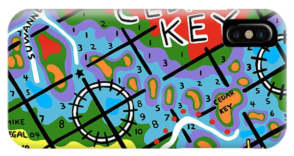 Cedar Key Chart IPhone Case