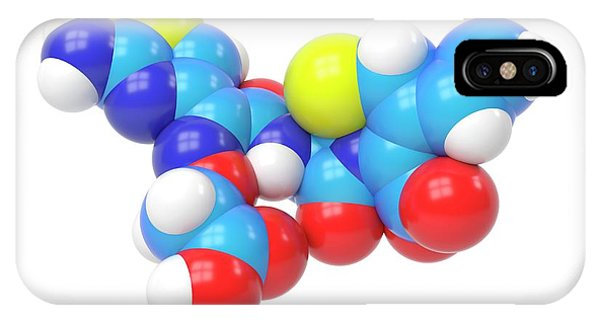 Cefixime Molecule Phone Case by Indigo Molecular Images