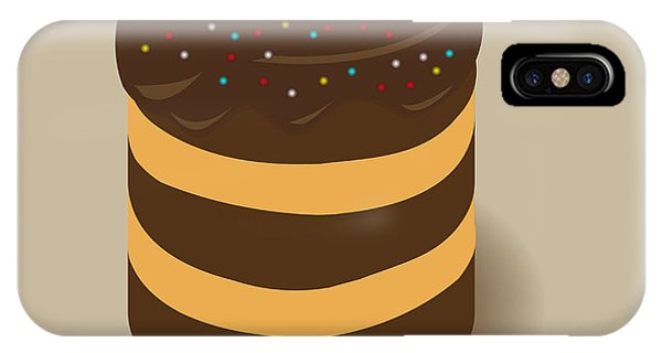 Celebration iPhone Case - Celebratory Chocolate Cake With Colored by Alexslb