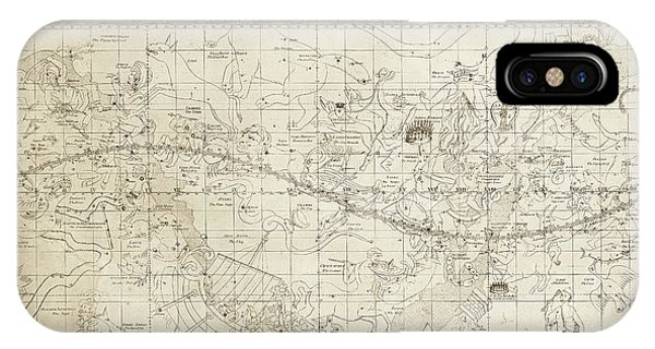 Constellations iPhone Case - Celestial Map Of The Heavens by Library Of Congress, Geography And Map Division