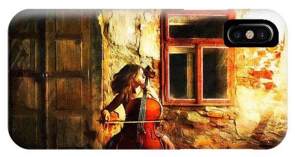 Cellist By Night IPhone Case