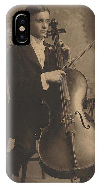 Cello Recital 1890s IPhone Case