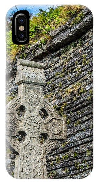 Celtic Cross At Kilmurry-ibrickan Church IPhone Case